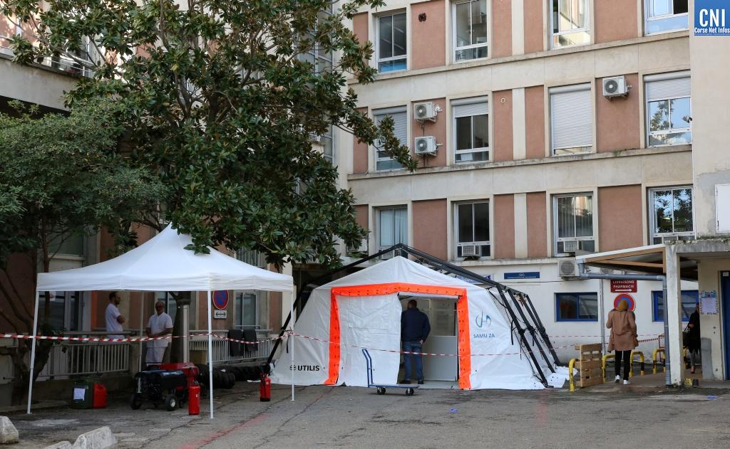 Le plan blanc mis en place au centre hospitalier d'Ajaccio (Images Michel Luccioni)