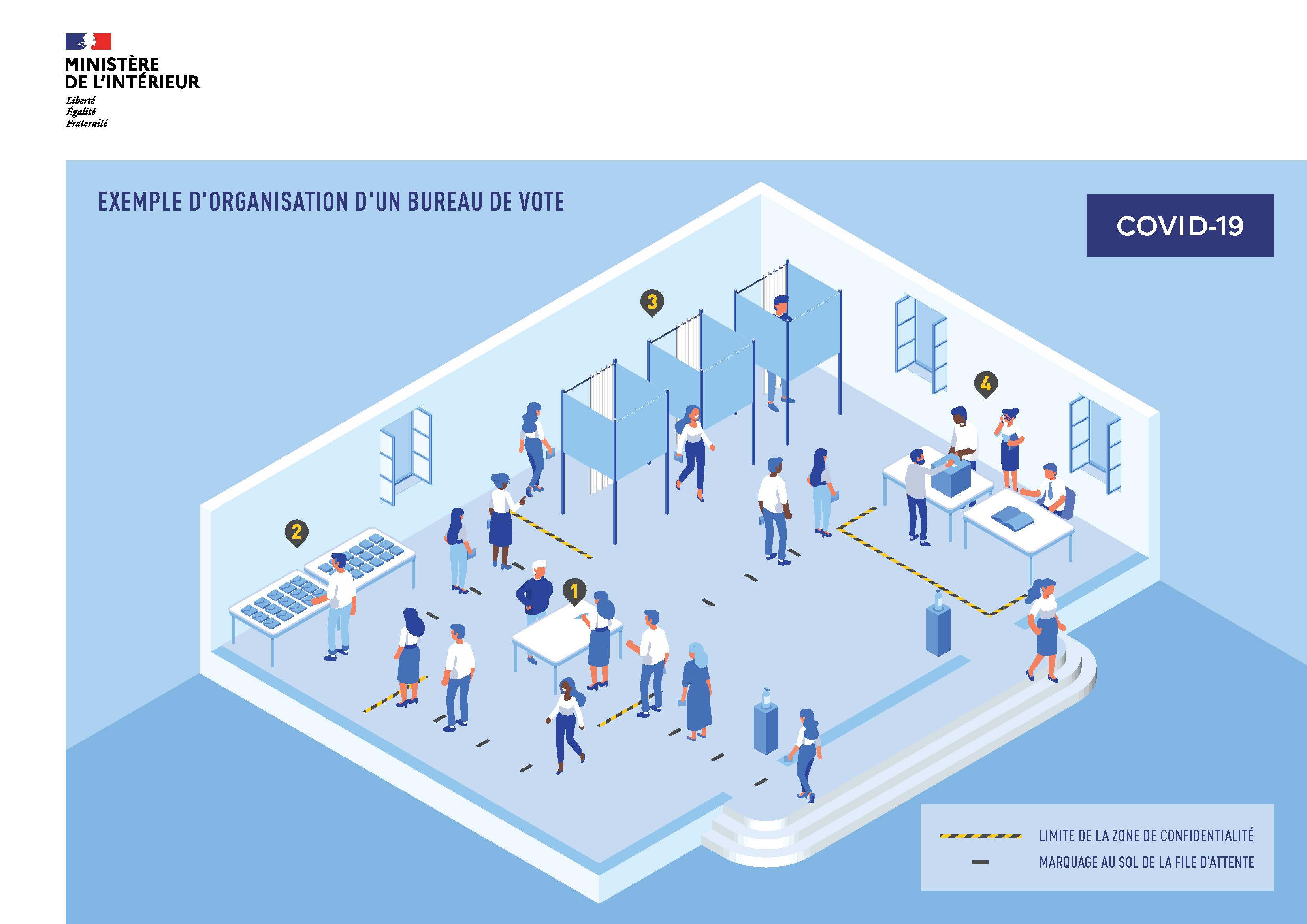 Coronavirus et municipales : les mesures prises dans les bureaux de vote à Bastia