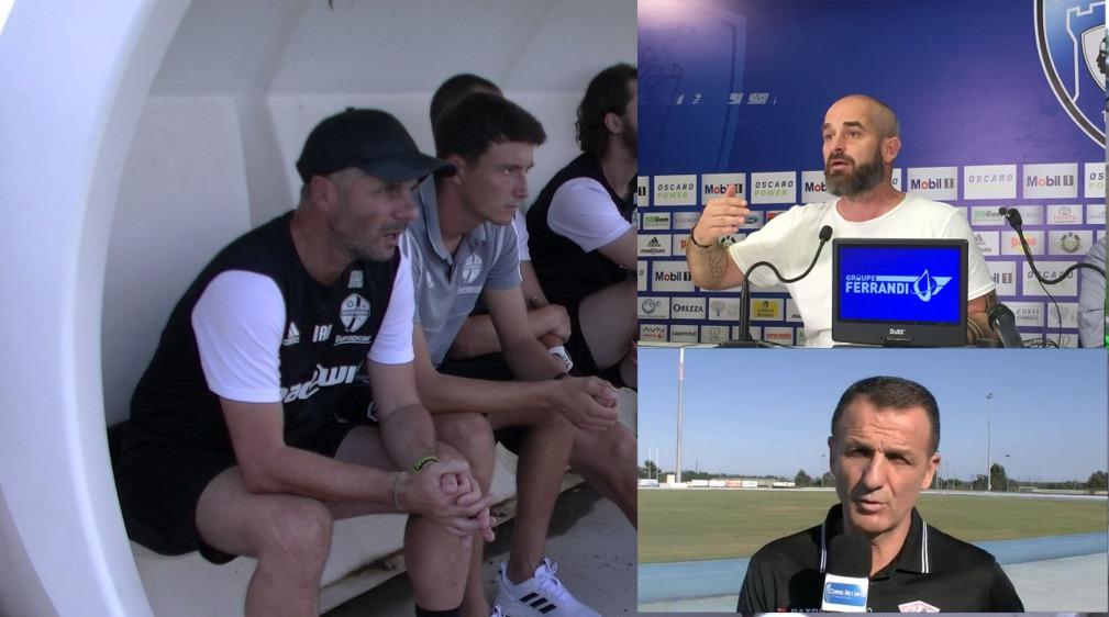 Jean-André Ottaviani (FCBB), Mathieu Chabert (SCB) et Tchouki  Corlija (Gallia), dans l'expectative !