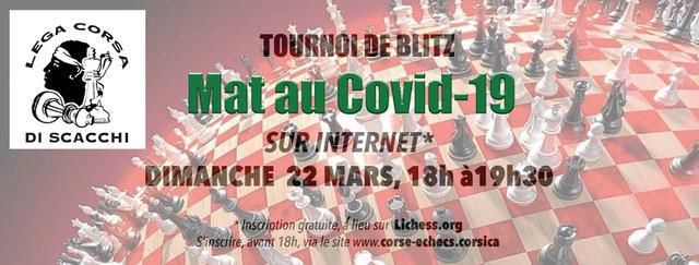"""""""Mat au Covid-19 : un tournoi d'échecs sur internet à l'initiative de la ligue corse"""