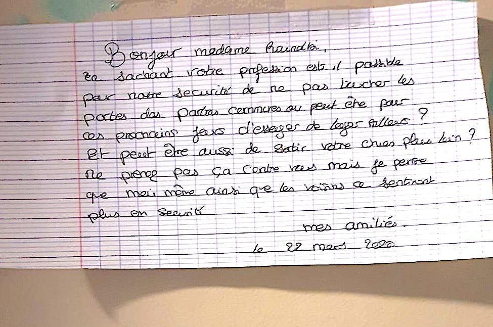 """Coronavirus : l'infirmière invitée à """"loger ailleurs"""""""