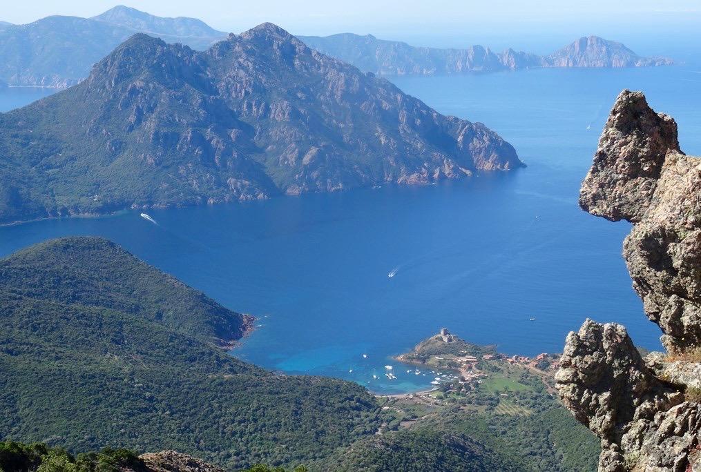 La photo du jour : Depuis le monte Seninu au dessus de Girolata