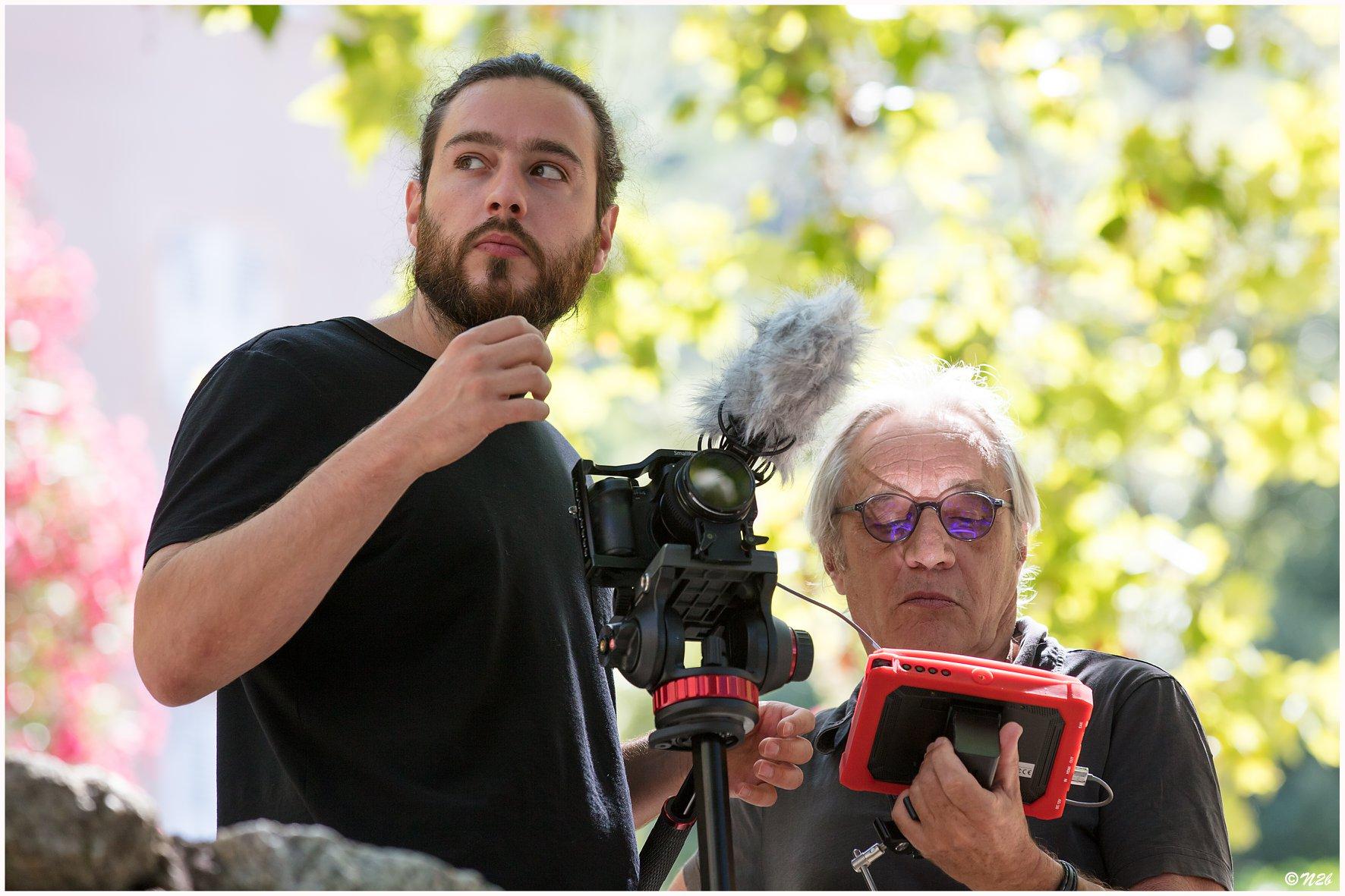Alain Remond, délégué général de Lisula cineMusica, ici avec son fils Stephane, à Lama