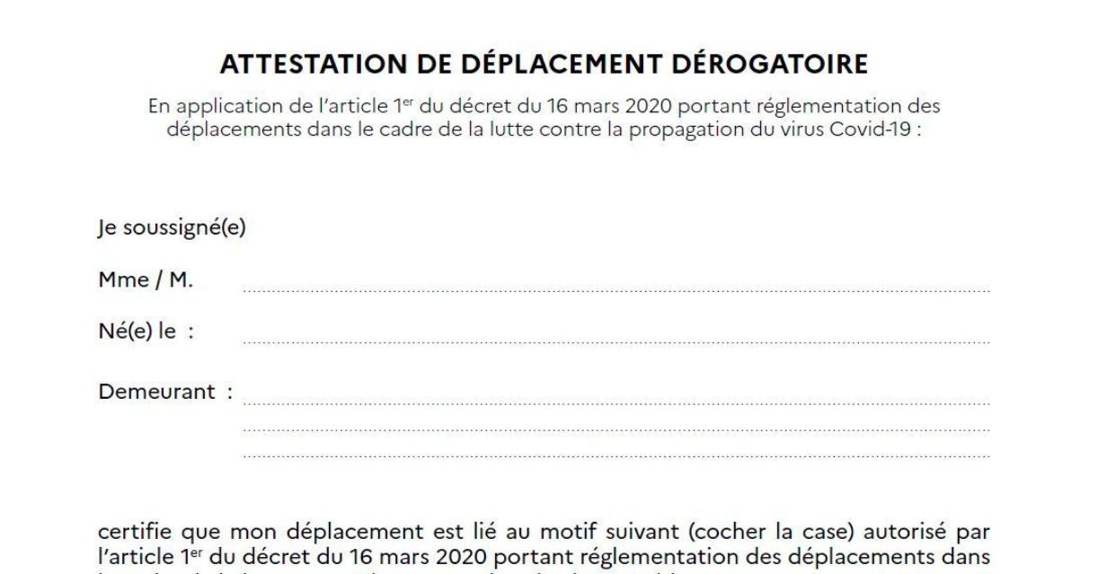 Confinement : Une attestation de déplacement numérique sera disponible dès le 6 avril