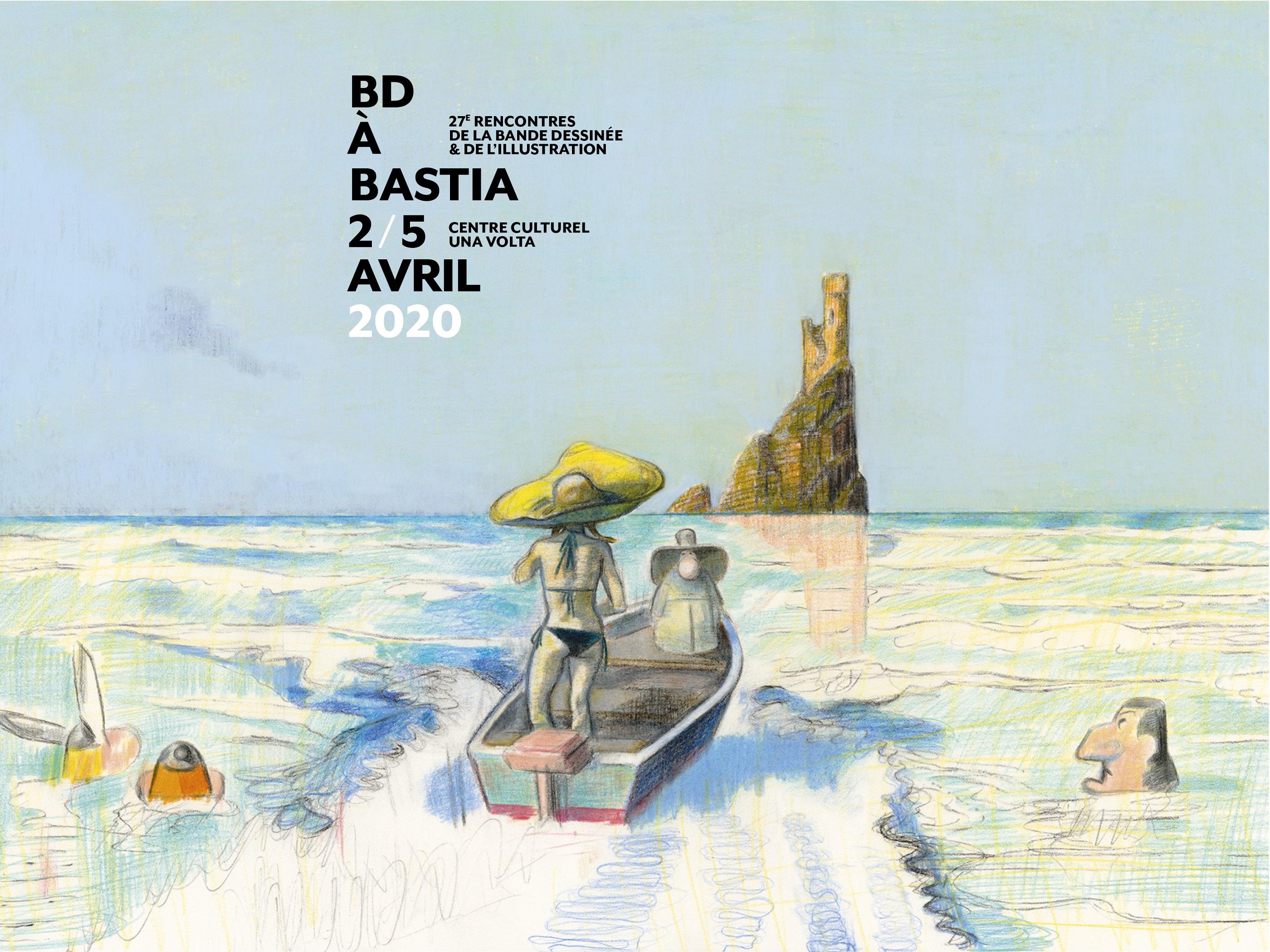 L'affiche est signée de l'auteur de BD : Blutch