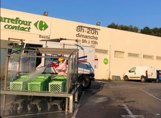 Coronavirus : A Bastia l'opération de désinfection est lancée