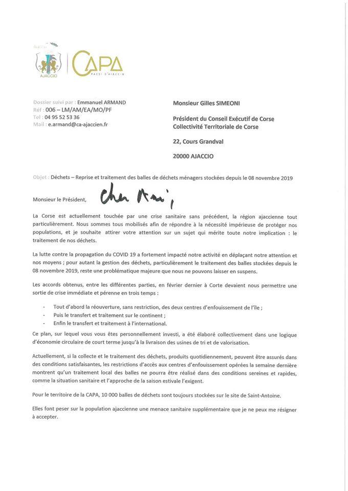 Déchets en balles : Laurent Marcangeli propose une solution provisoire à l'Exécutif de Corse