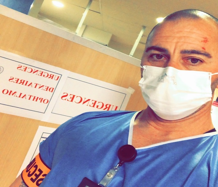 Nicolas, agent de sécurité aux urgences de l'hôpital de Bastia