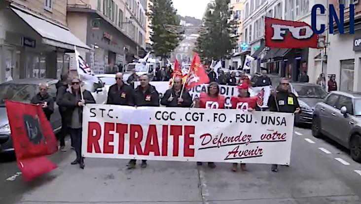 """Les """"Retraités indignés"""" de Corse reviennent à la charge"""