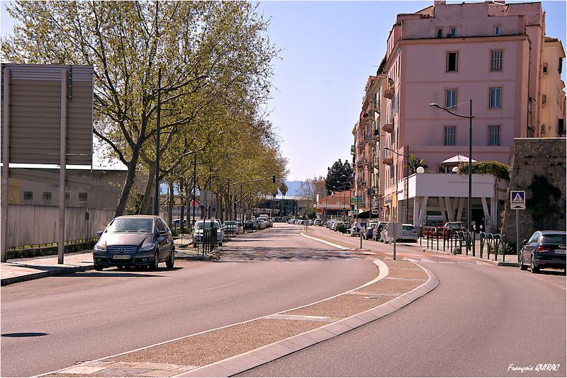 Le boulevard Sampiero à Ajaccio (François Quirac)