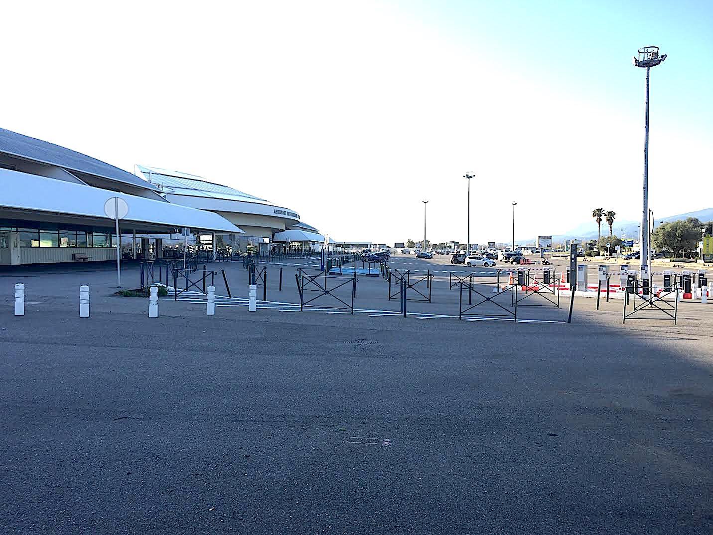 Le parking de Bastia-Poretta