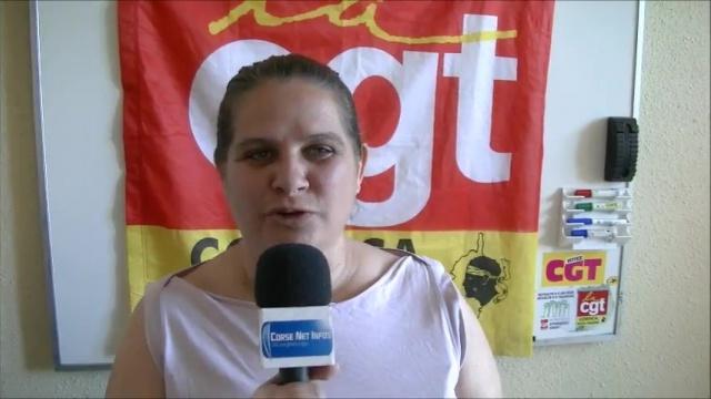 Sandrine Mazeau de la CGT Haute-Corse, monte une nouvelle fois au creneau pour défendre les aides à domicile