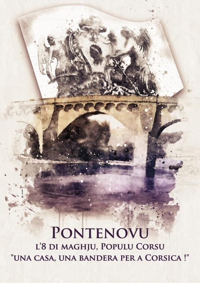 Celebrazione di Pontenovu l'8 di maghju : « una casa, una bandera ! »