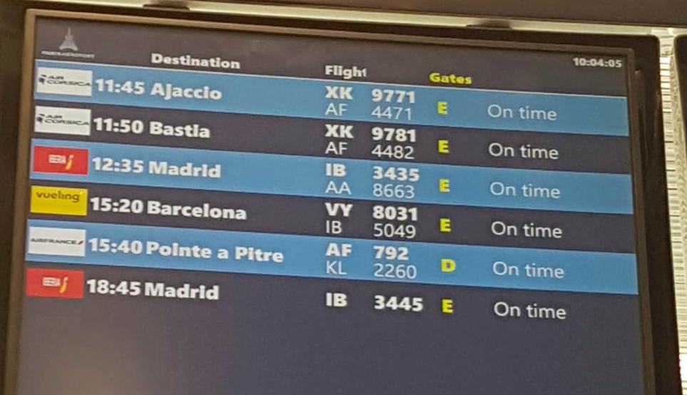 Les derniers vols au départ d'Orly, le 31 mars dernier