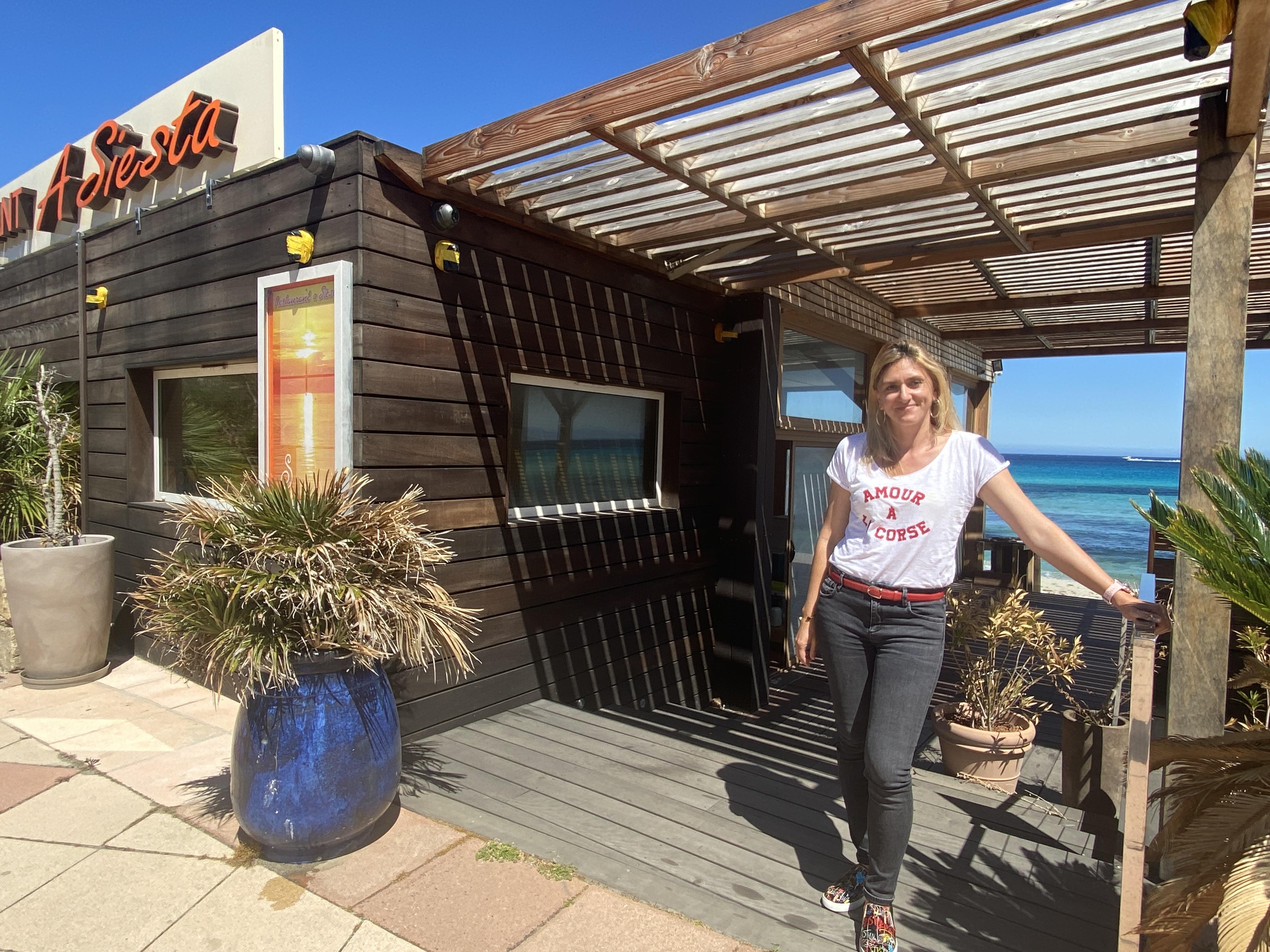 Angela, propriétaire de la Siesta à l'Ile-Rousse.