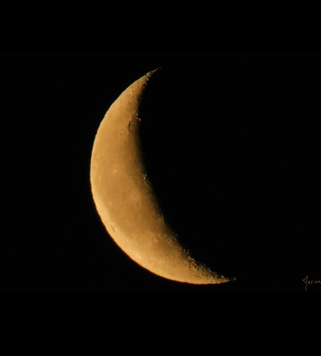 La photo du jour : «La Lune de la nuit dernière»