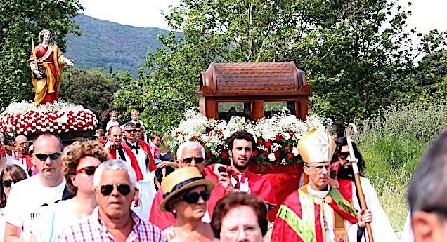 Messe à huis clos pour le pèlerinage de Sainte Restitude à Calenzana