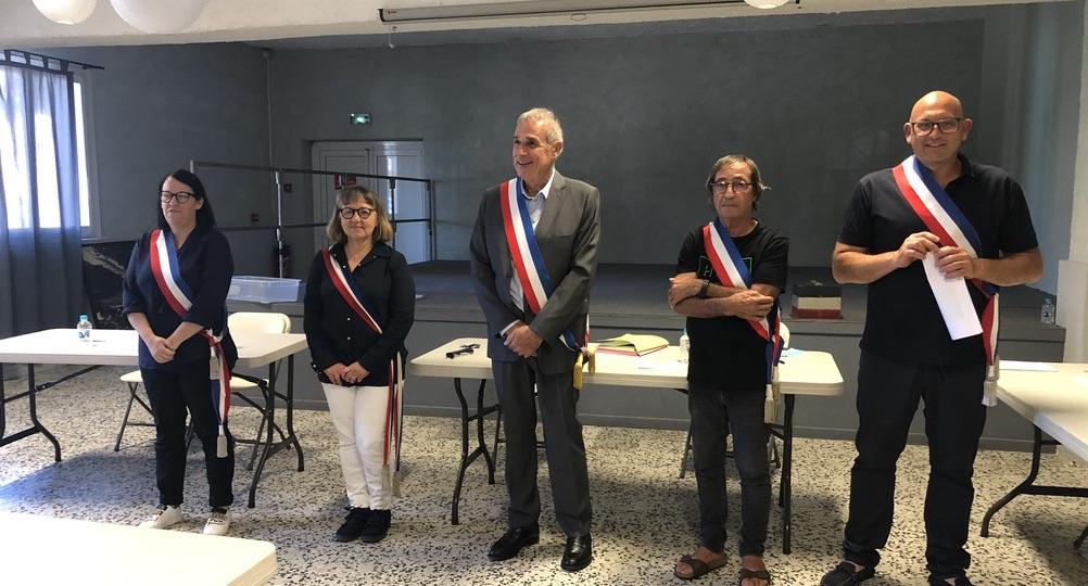Jean Toma, le maire (au centre) et ses ad