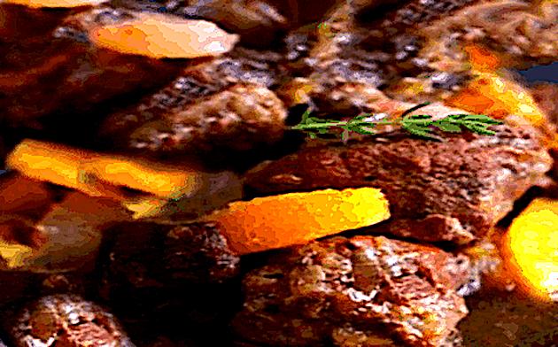 A table : veau au miel et aux agrumes