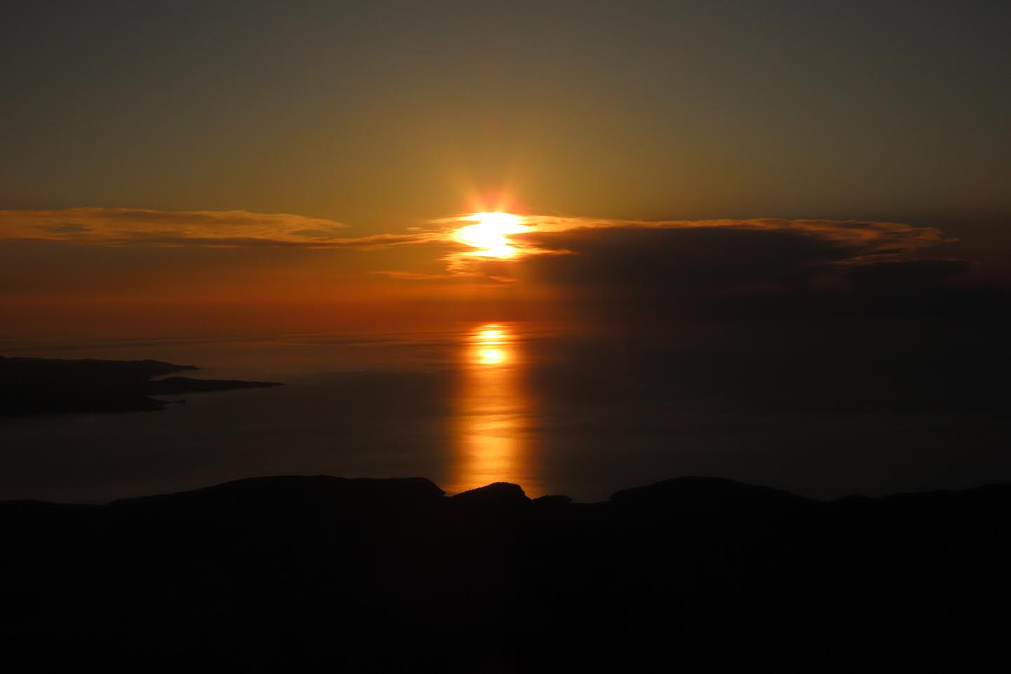 Coucher de soleil vu du Pignu (Marie-Thé Giacomi)
