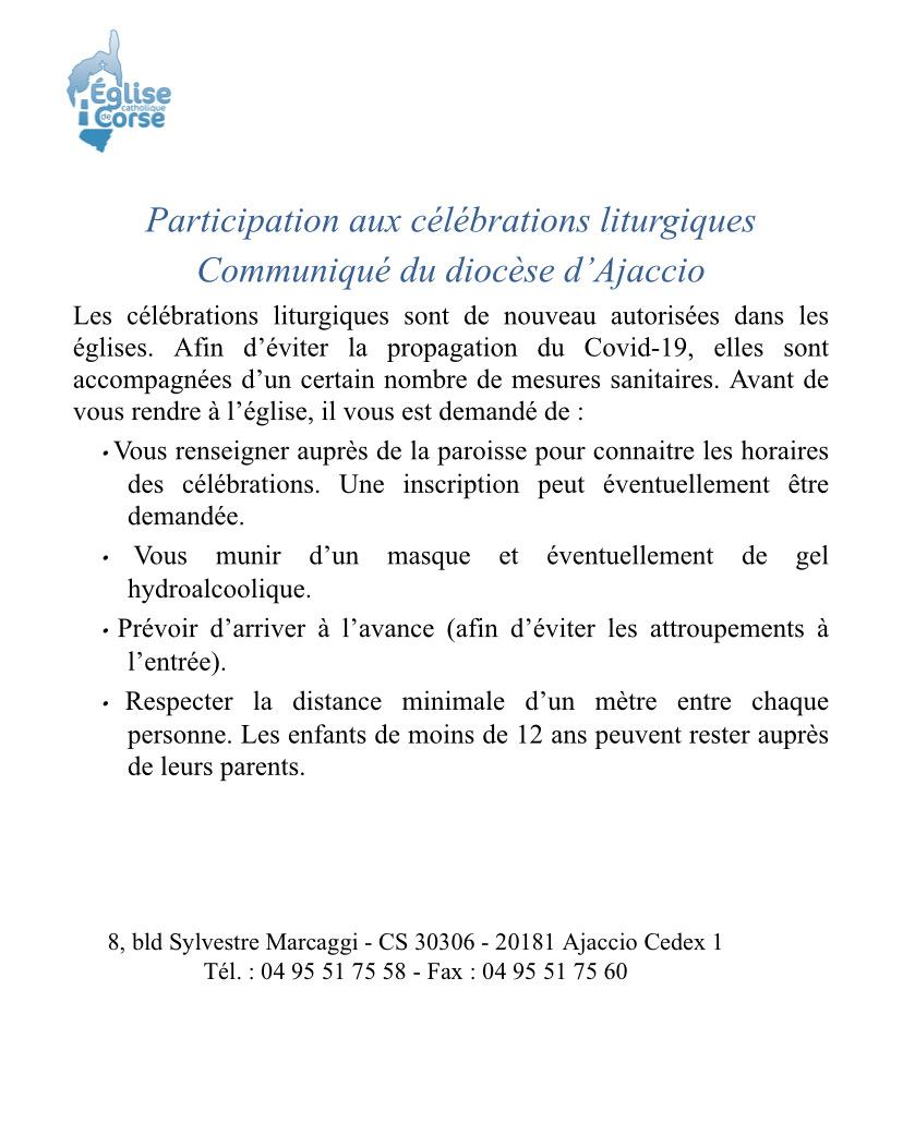 Corse : les messes de nouveau autorisées