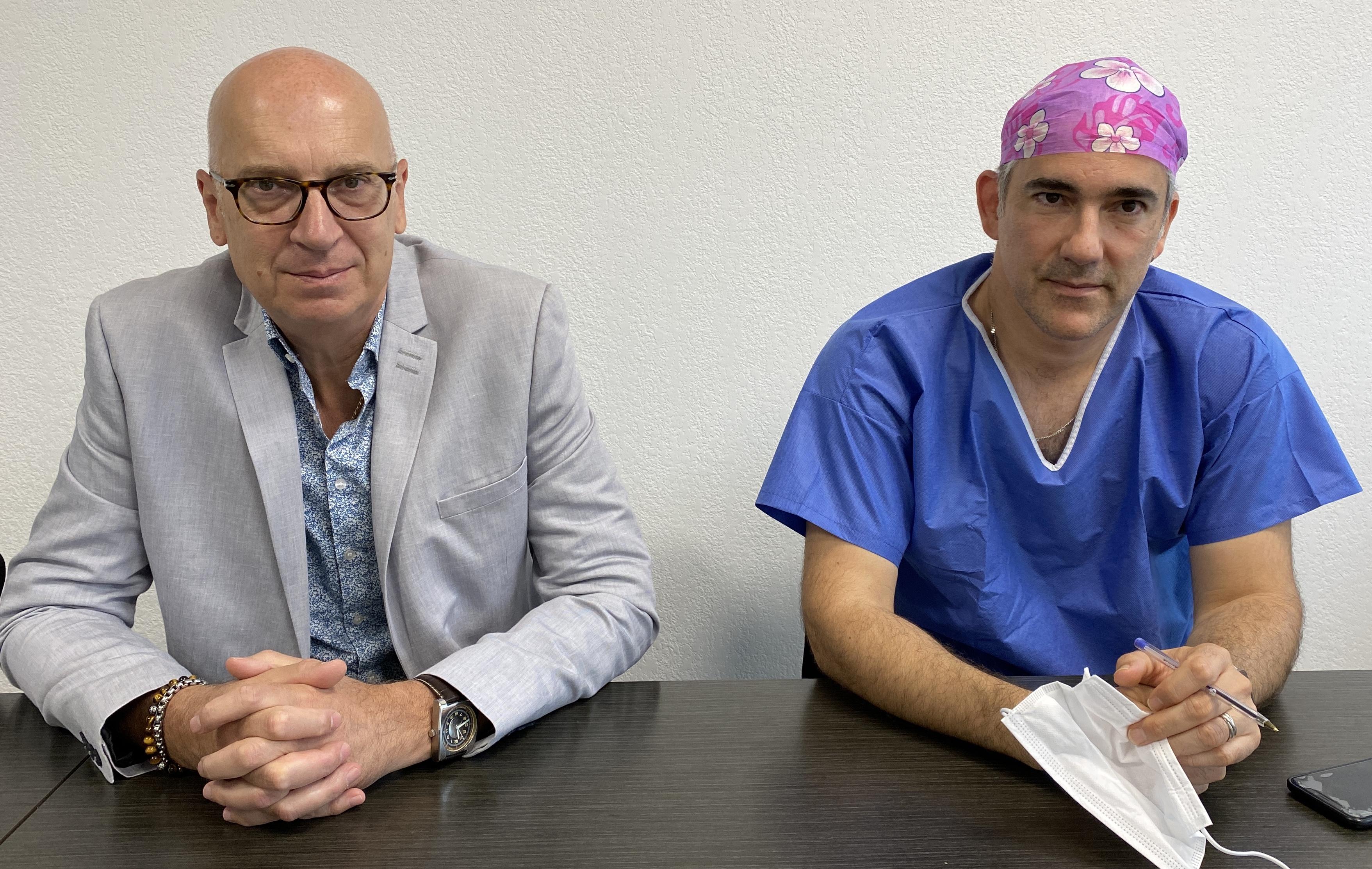 Jean-Mathieu Defour, directeur de l'hôpital de Bastia et docteur Thomas Darnaud