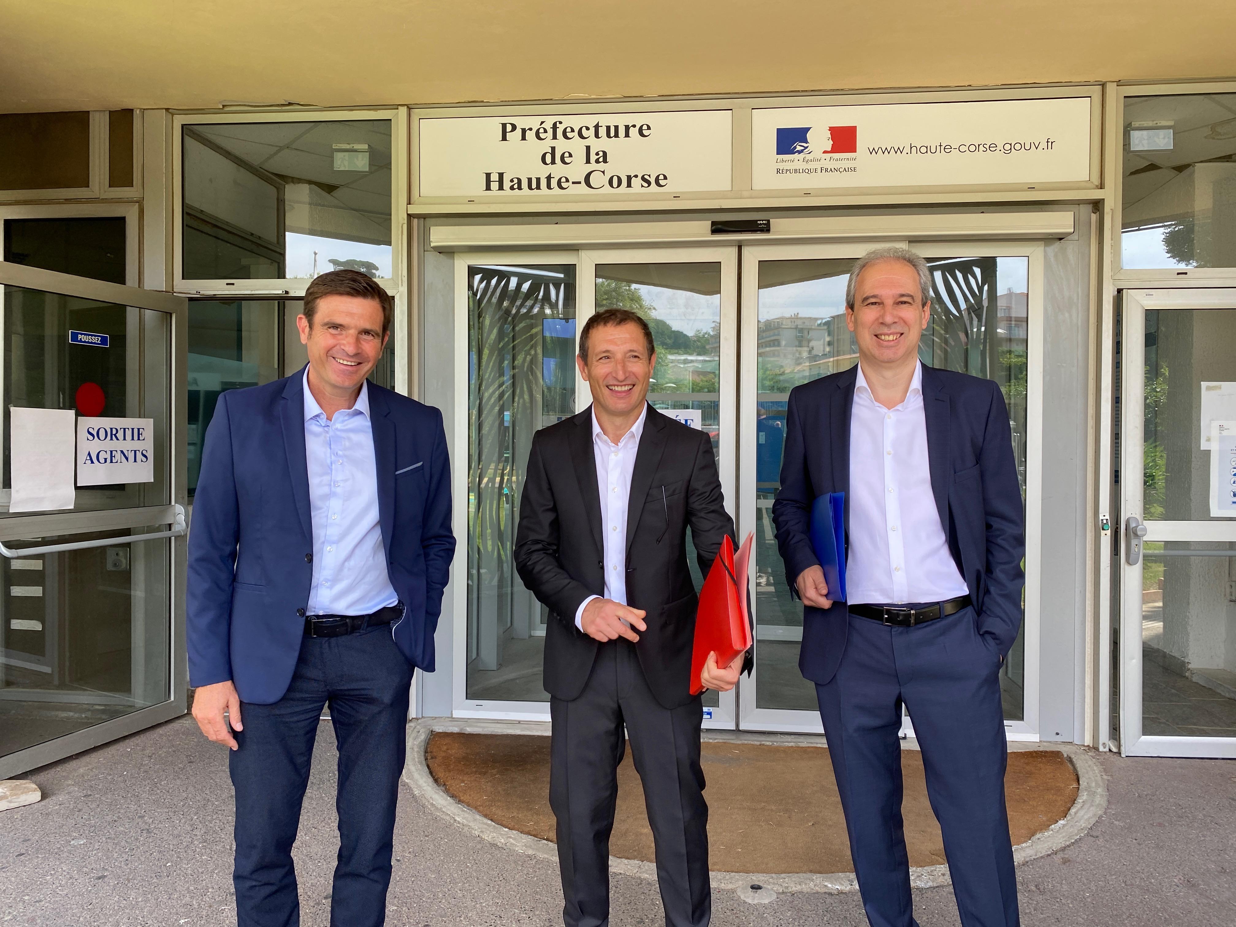 Jean-Martin Mondoloni, Jean-Sebastien de Casalta et Jean Zuccarelli.