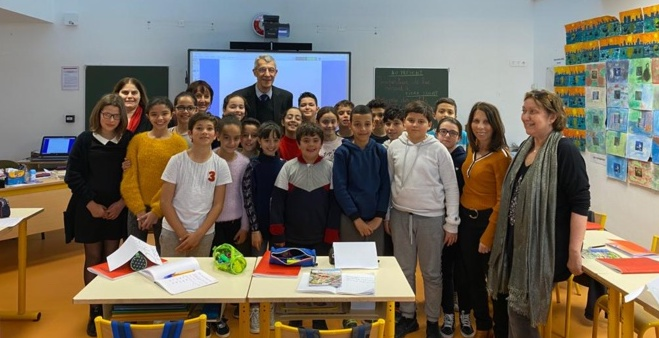 """Les CM2 de l'école Charles Andrei à Bastia parmi les 4 finalistes du """"Parlement des enfants"""""""