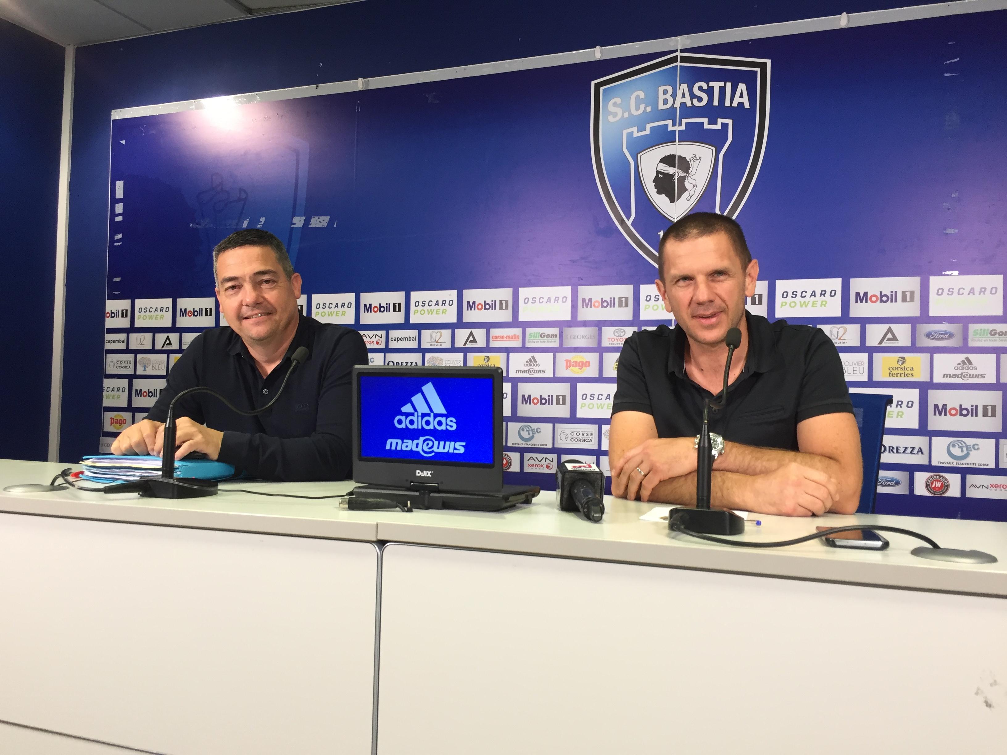 Marc-Antoine Luca, président de l'association SCB et Claude Ferrandi, président du SCB, ont présenté les projets pour le club