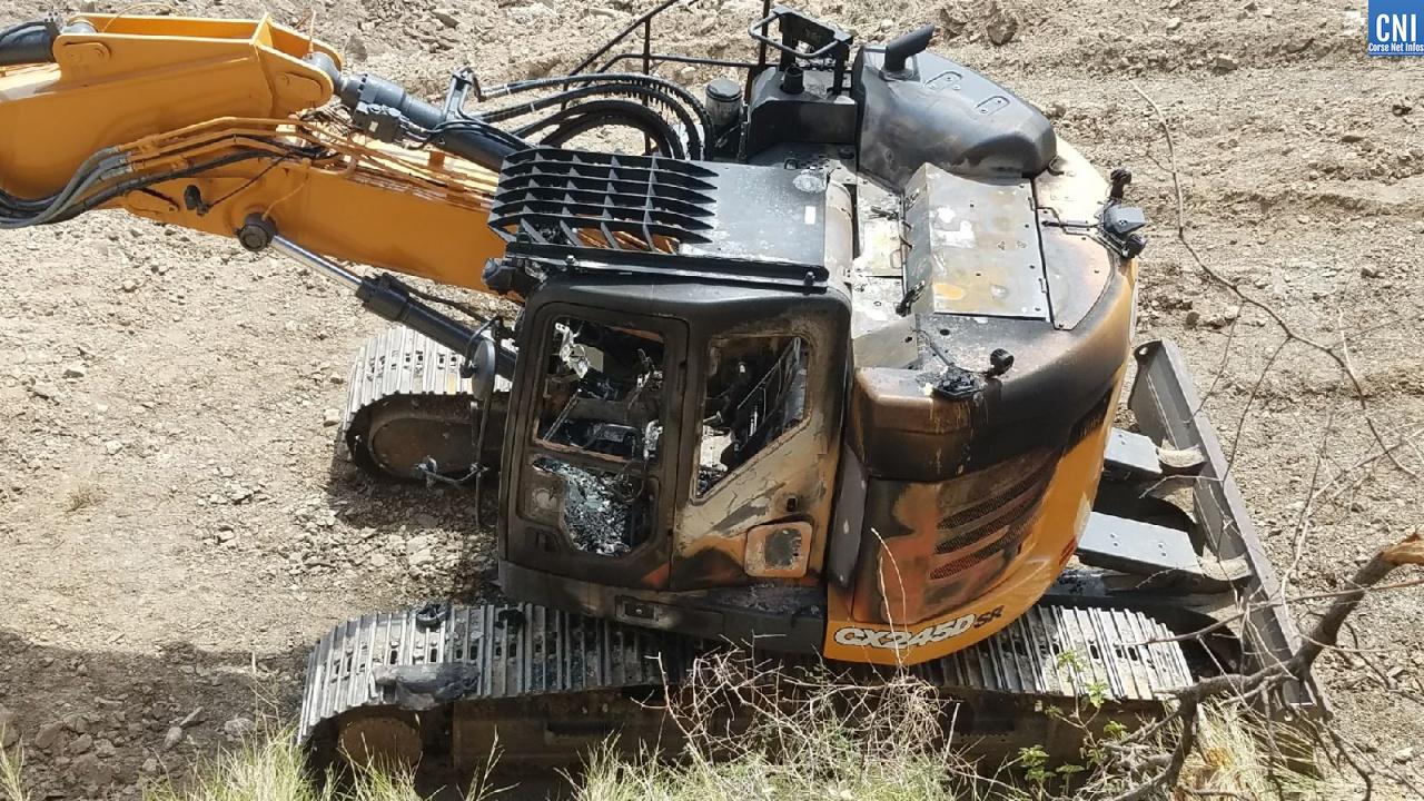 Engins de chantiers incendiés : la mairie de Palasca condamne