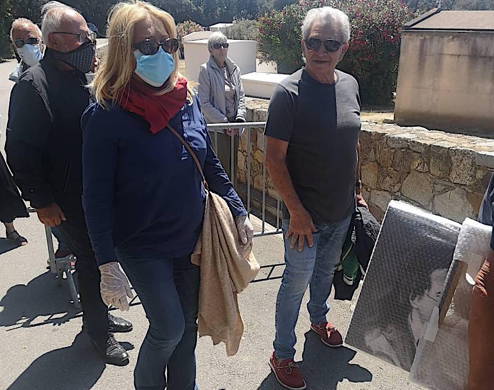 L'Inhumation de Guy Bedos au cimetière de Lumio