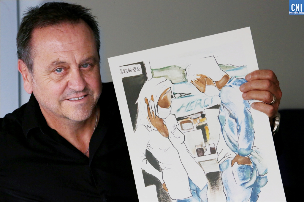 """Merci"" : le cadeau de Pierre Farel au personnel hospitalier d'Ajaccio"