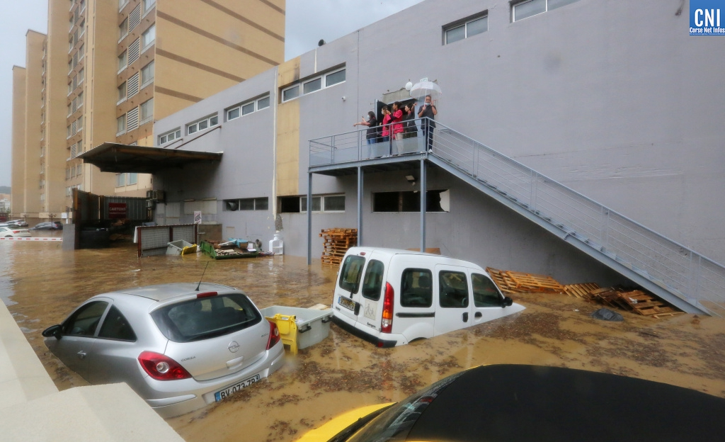 Une image des inondations de jeudi 11 juin à Ajaccio. Michel Luccioni