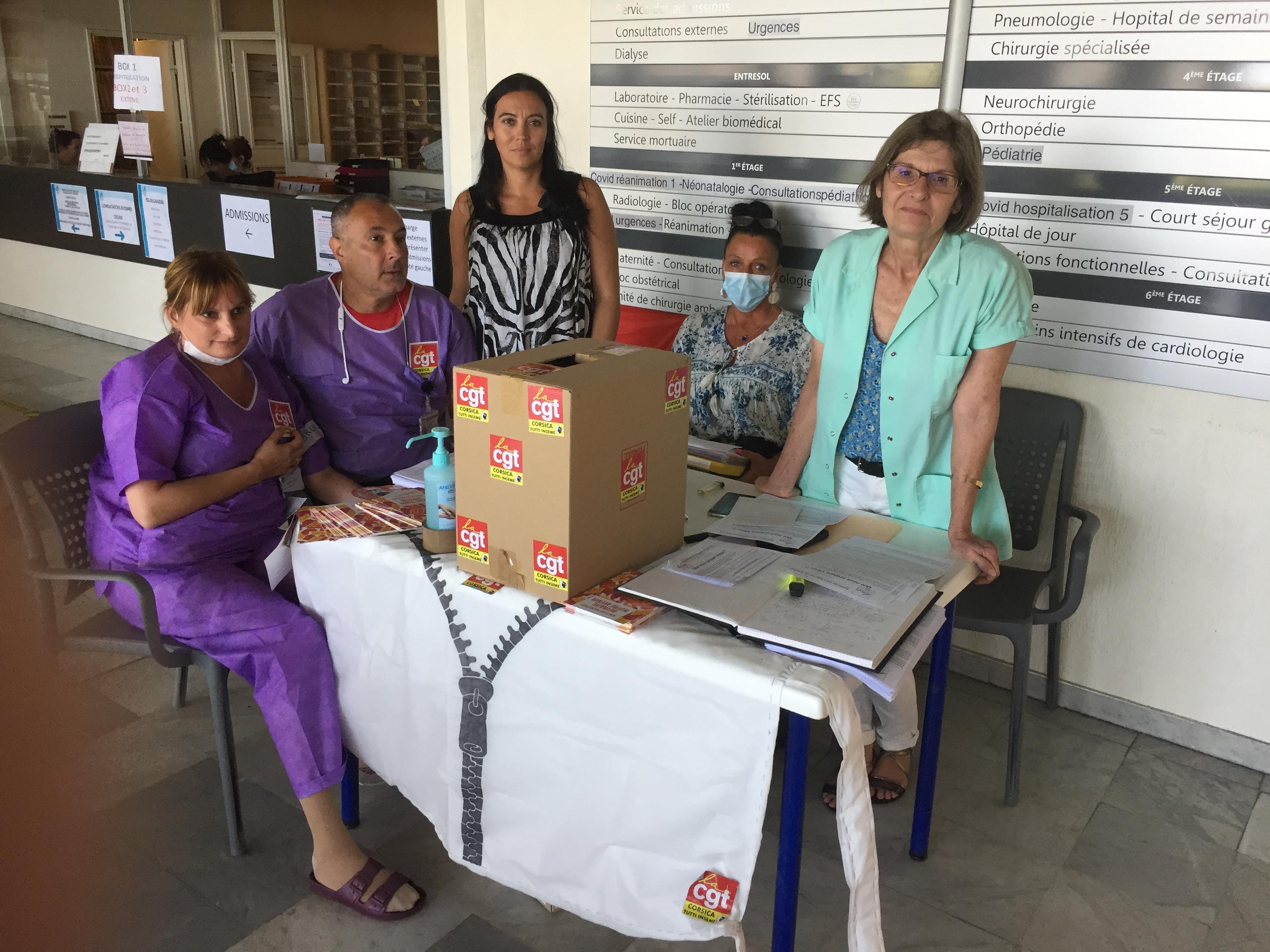 journée de grève et d'information pour les soignants CGT de l'hôpital de Bastia