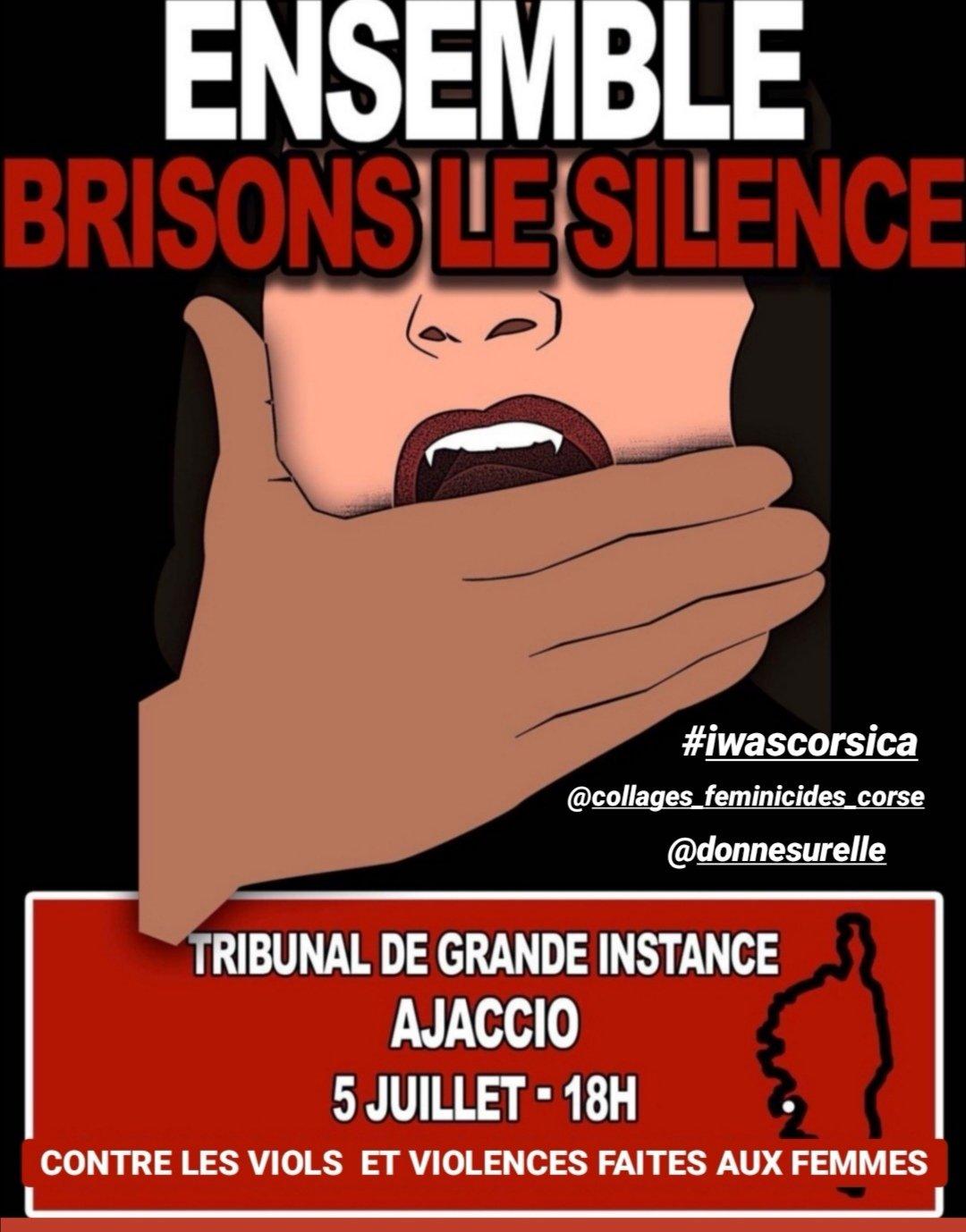 #IwasCorsica: Après Bastia c'est Ajaccio qui ce dimanche se mobilise pour briser le silence