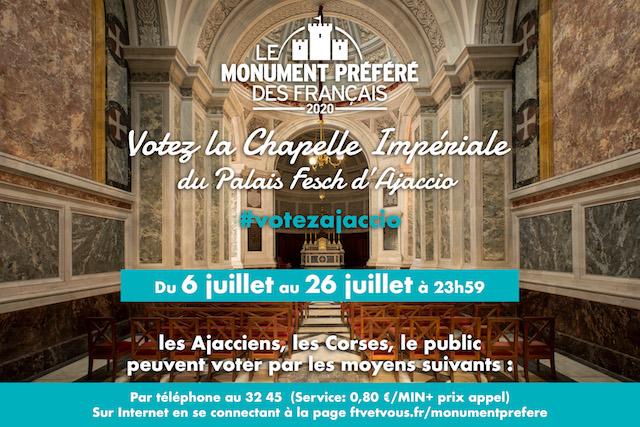 Monuments préférés des Français : la Chapelle Impériale d'Ajaccio en lice parmi 14 sites