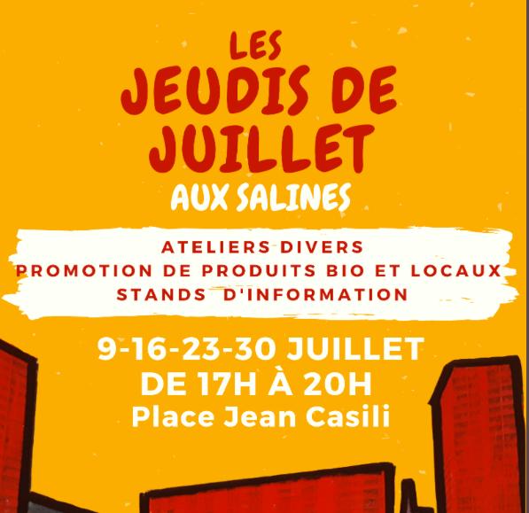 """Ajaccio : """"Les jeudis de juillet"""" à partir de ce 9 juillet aux Salines"""