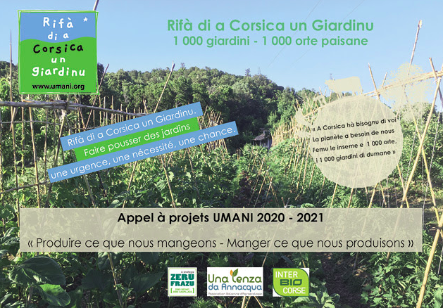 """UMANI lance l'Appel à Projet """"Rifà di a Corsica un Giardinu"""""""