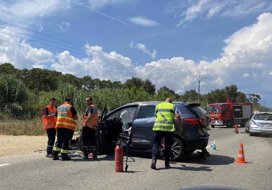 Un accident entre trois voitures fait cinq blessés à Solaro