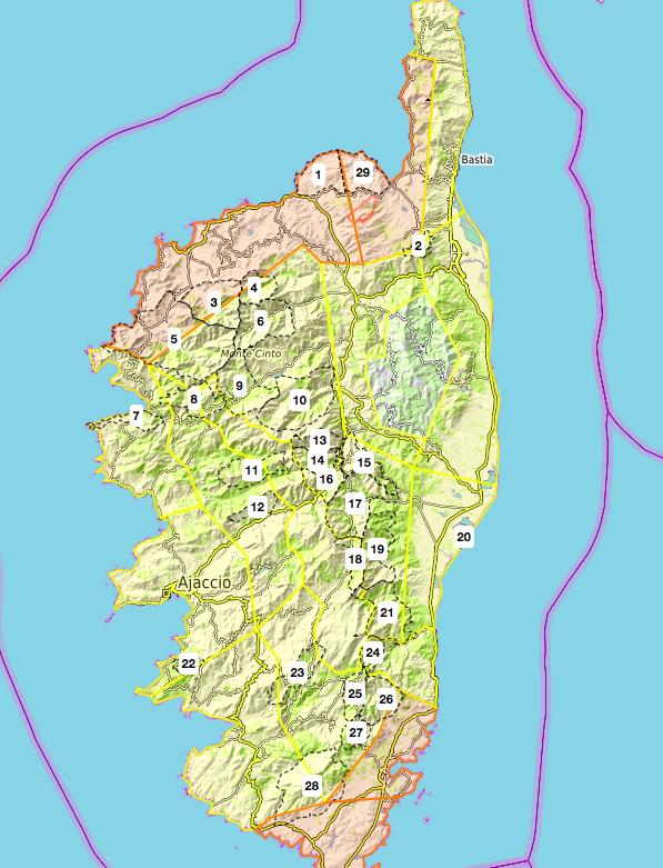 Risque incendie élevé dans plusieurs massifs forestiers de Corse ce 24 juillet
