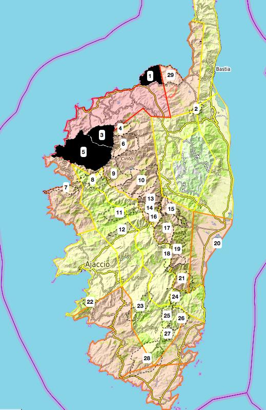 Risque incendie : 3 massifs forestiers corses fermés