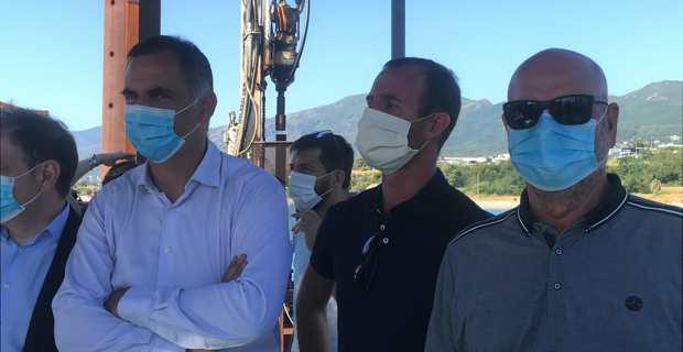 Gilles Simeoni, Stefanu Venturini et Jean Dominici.