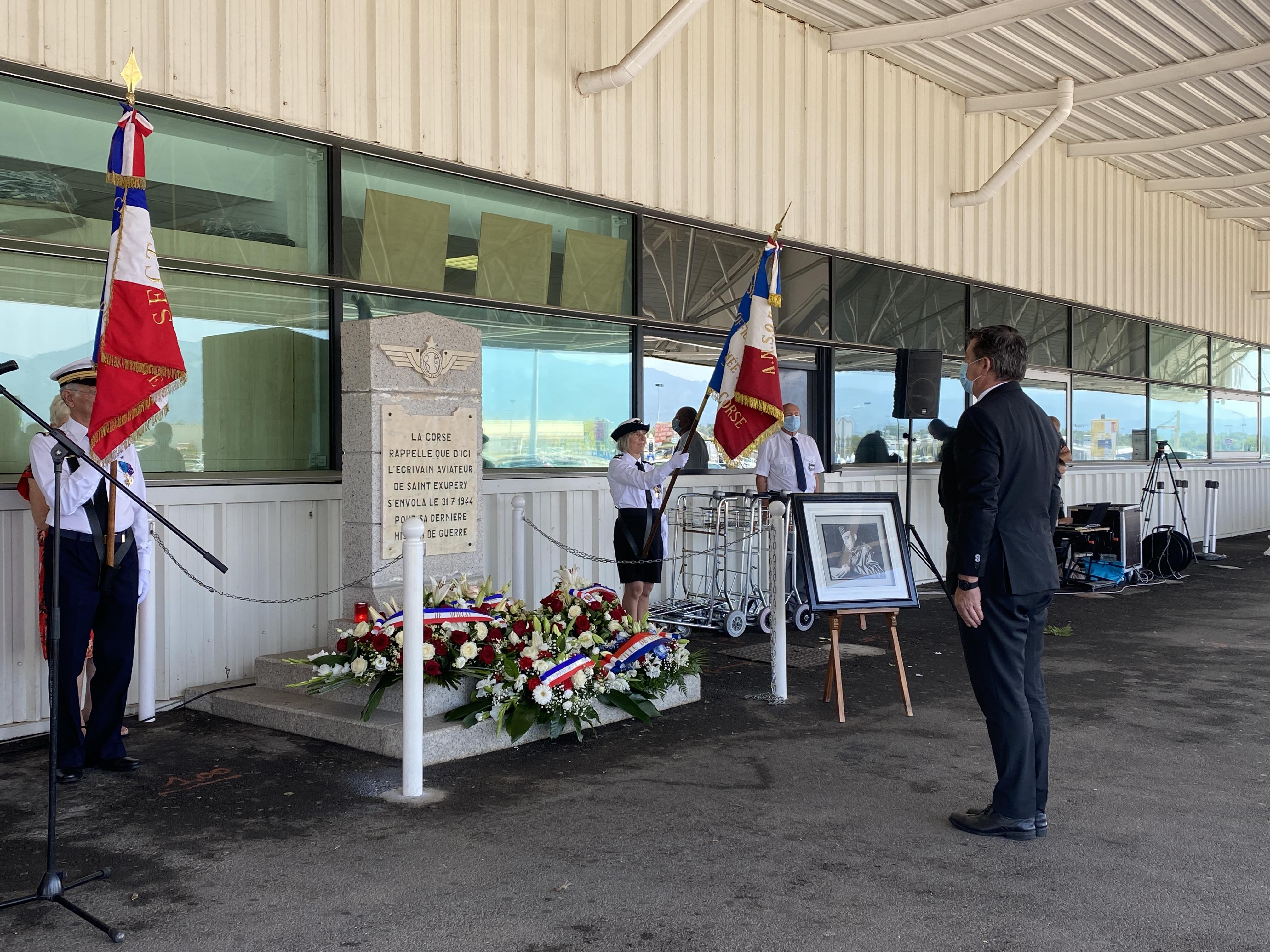Poretta et la Corse commémorent le 76 ème anniversaire de la disparition d'Antoine de Saint-Exupéry