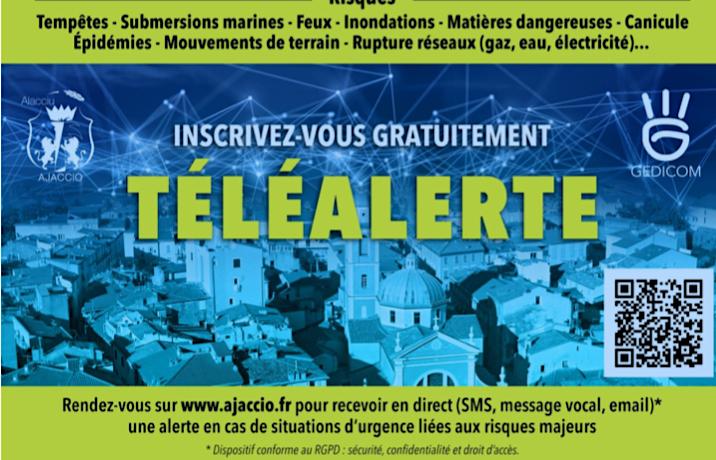Tempêtes, inondations, canicule : Ajaccio se dote d'un système de TéléAlerte à la population
