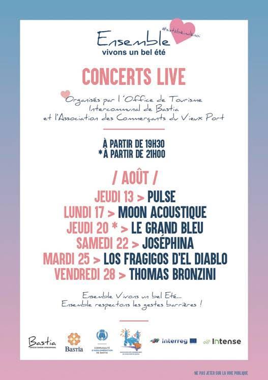 Si Stà Bè Indè Noi : des concerts live sur Vieux Port de Bastia