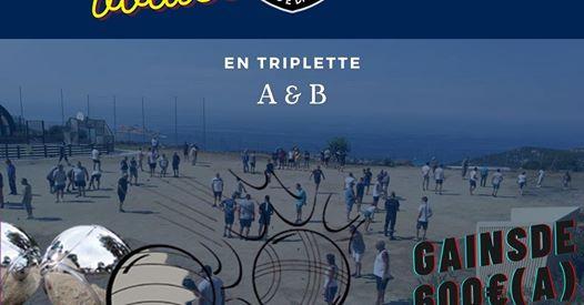 Concours de boules de l'amicale des pompiers de l'Ile-Rousse à Munticellu