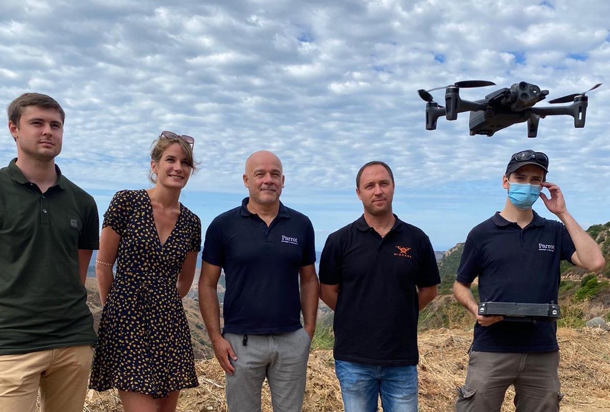 La start-up corse Midgard se rapproche de Parrot, leader européen de drones