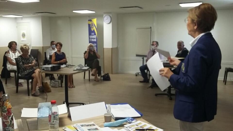 Les Lions de Corse réunis à Corte en présence de Tania Arzani gouverneur du District 103