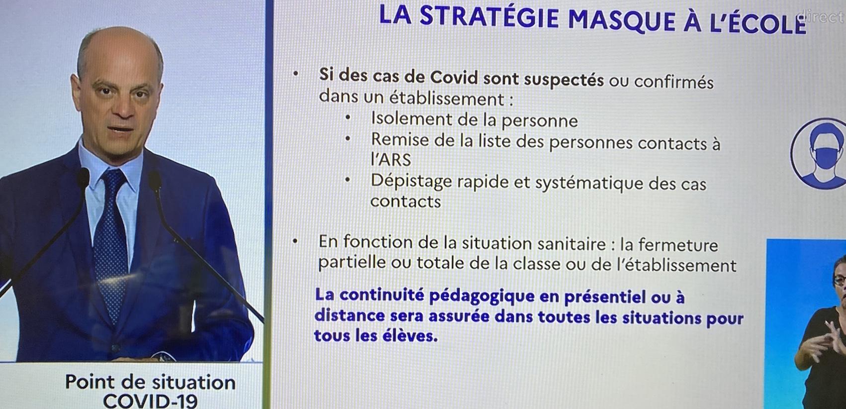 Jean Michel Blanquer, ministre de l'Education