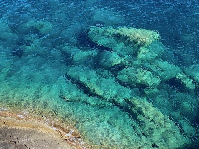 Dégradé de bleu que nous offre la Méditerranée, photo de Florence Guenot